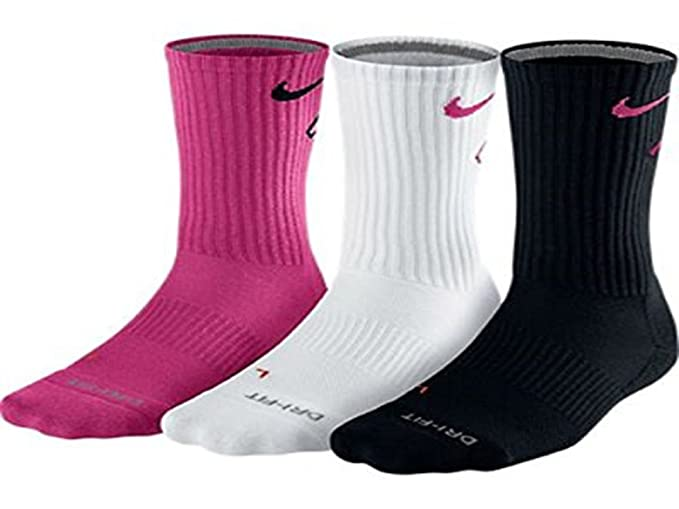 163f7ff28ec9e Amazon.com: Nike Dri-Fit Cotton Fly Crew Sock 3-Pack SX4689 (Xl, 969 ...