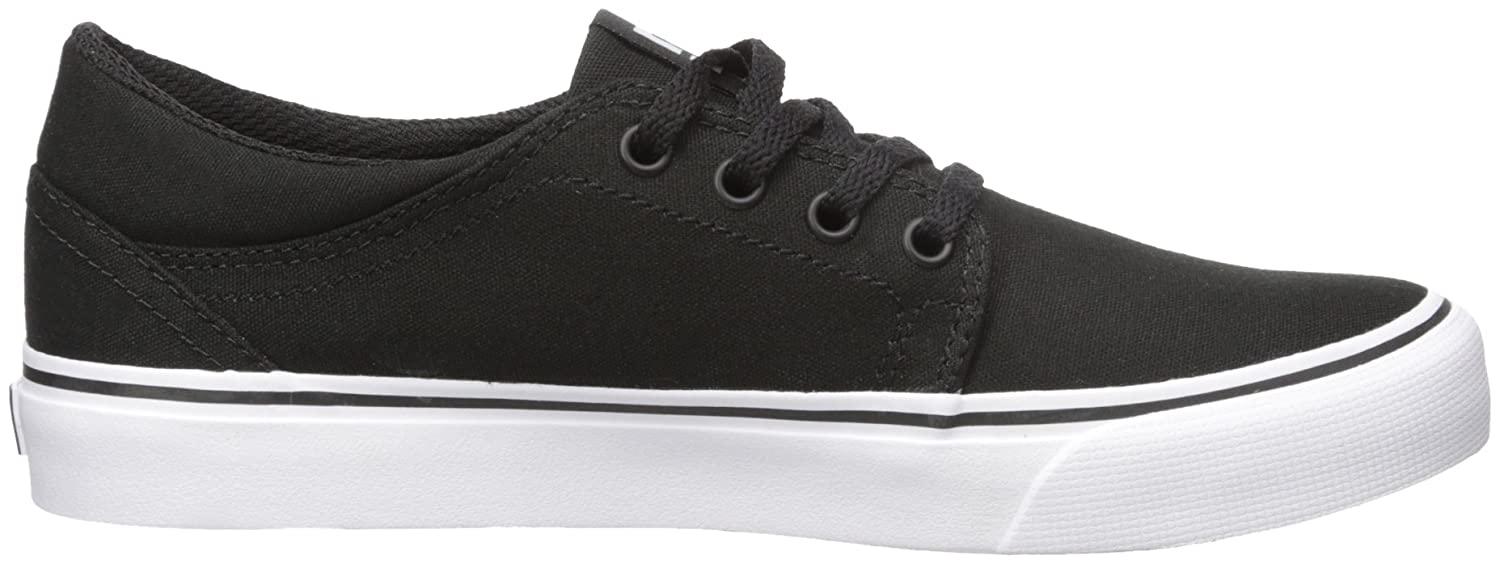 DC Men's Trase TX Unisex Skate Shoe B00L9DX068 5.5 B(M) US|Black/White
