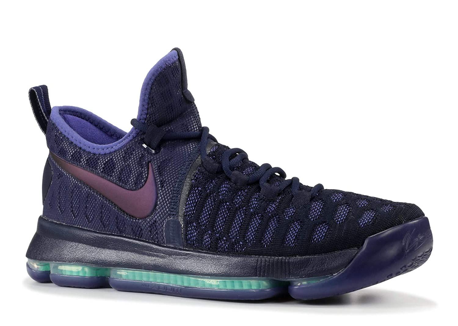 Amazon.com | Nike Zoom KD 9 Mens Basketball Shoes (10, Obsidian/Dk Purple Dust-Black) | Basketball