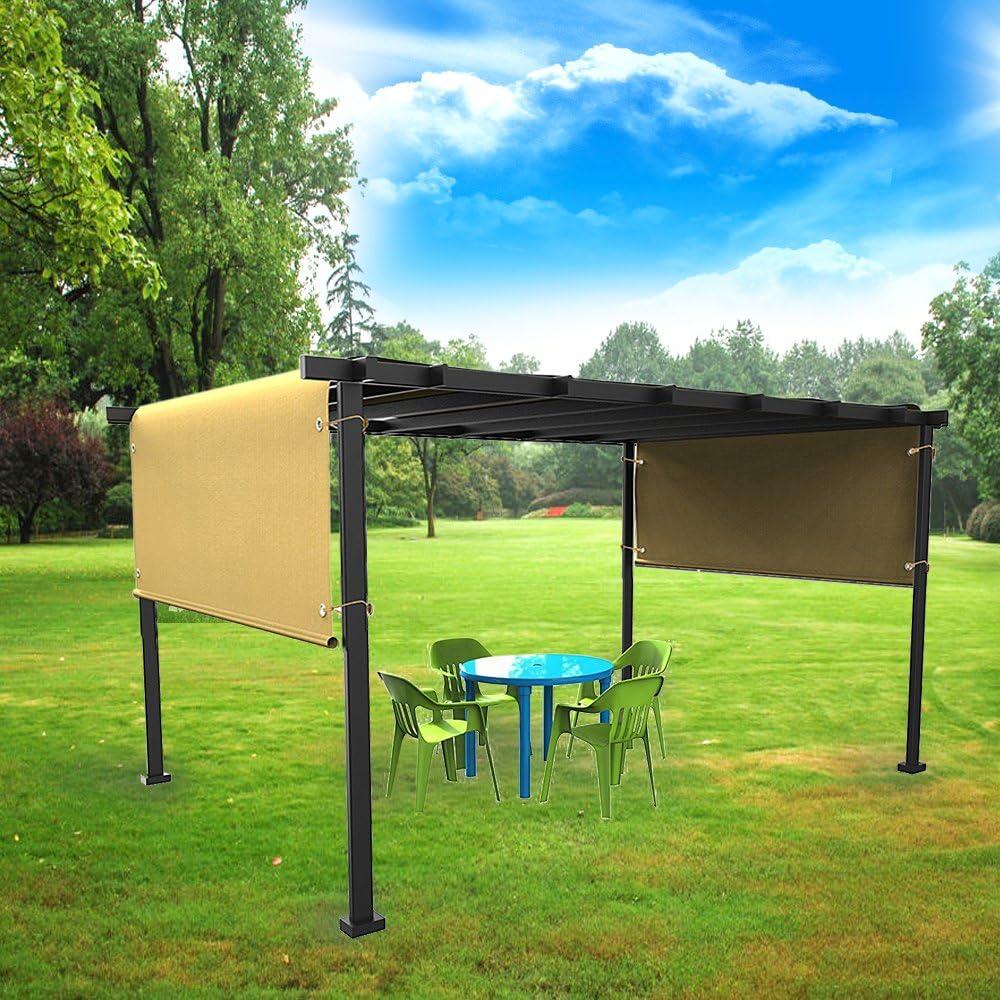 Ecover - Toldo Exterior con Ojales para pérgola de jardín, Patio, Trigo de Color: Amazon.es: Jardín