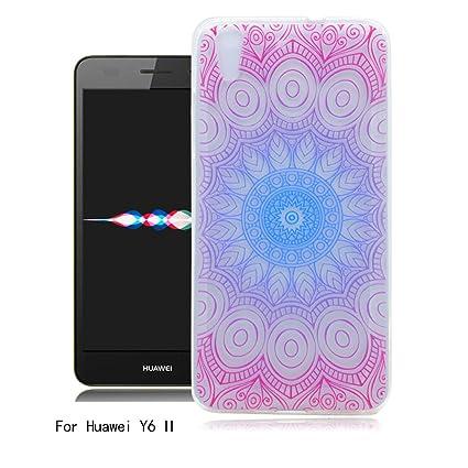 Funda Huawei Y6 II, Ronger Carcasa Transparente Suave Estilo ...