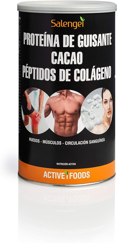 Active Foods Proteína de Guisante con Colágeno y Cacao - 500 ...