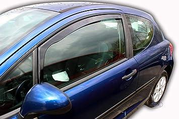 J J Automotive Windabweiser Regenabweiser Für Peugeot 207 3 Türer 2006 2012 2tlg Heko Dunkel Auto