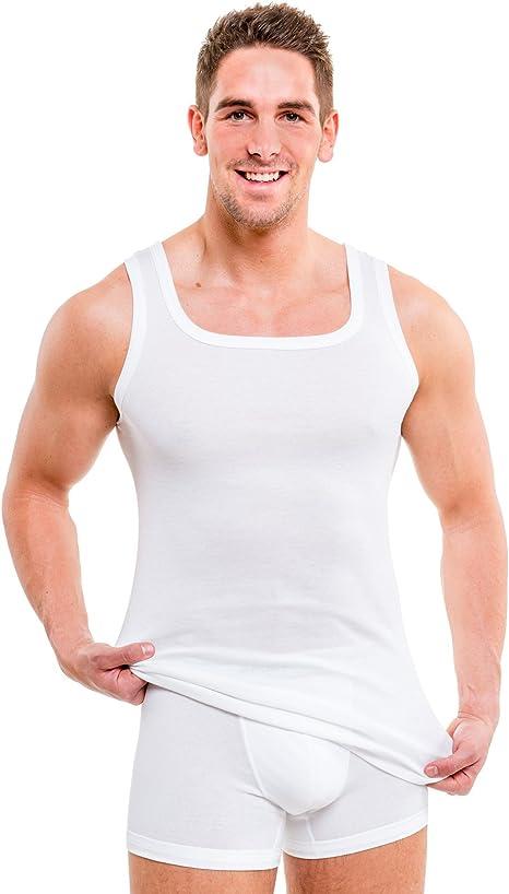 HERMKO 93015 - Pack de 4 camisetas interiores de algodón orgánico ...