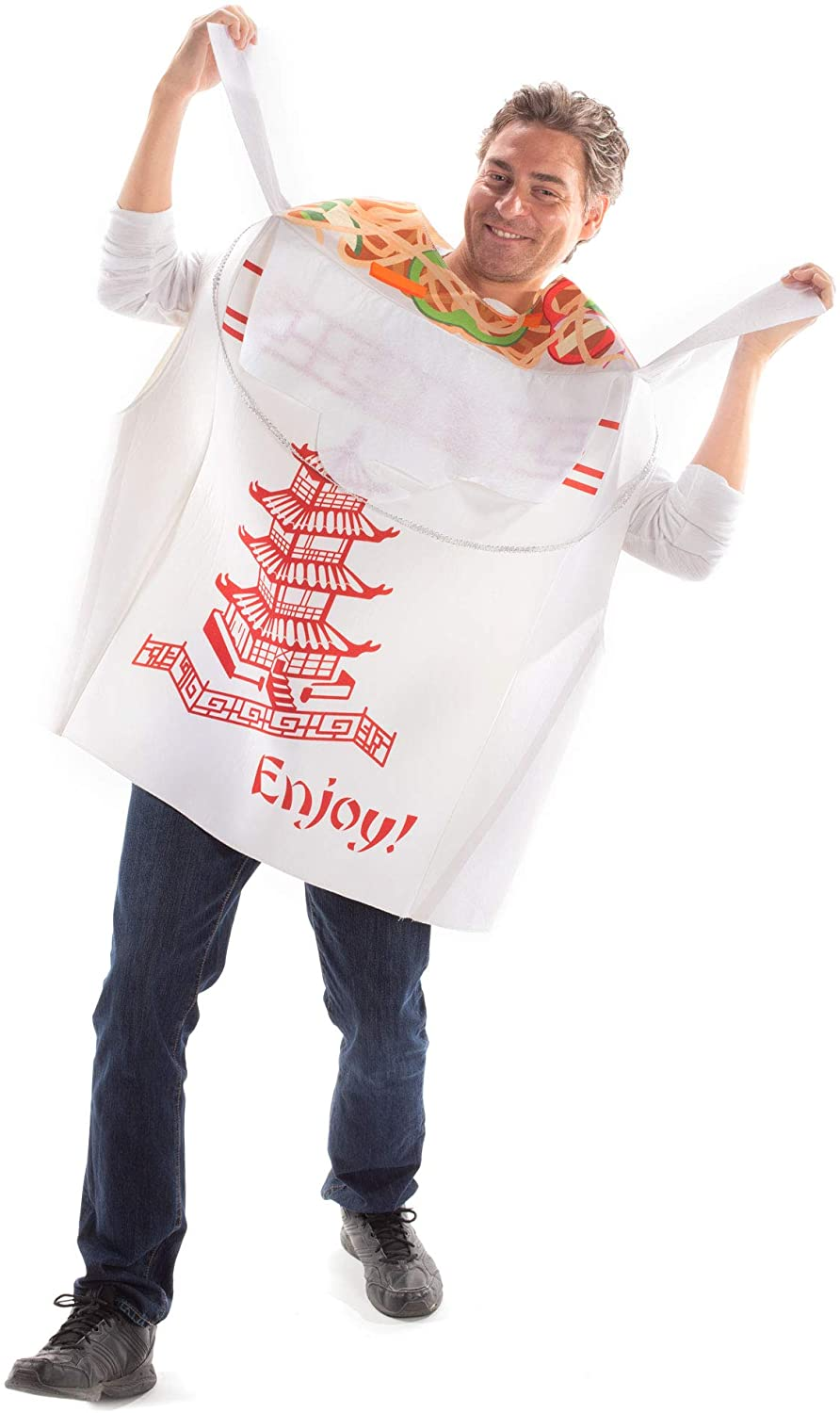 Tasty Chinese Take Out Halloween Costume - One Size Unisex Food & Noodle Outfit