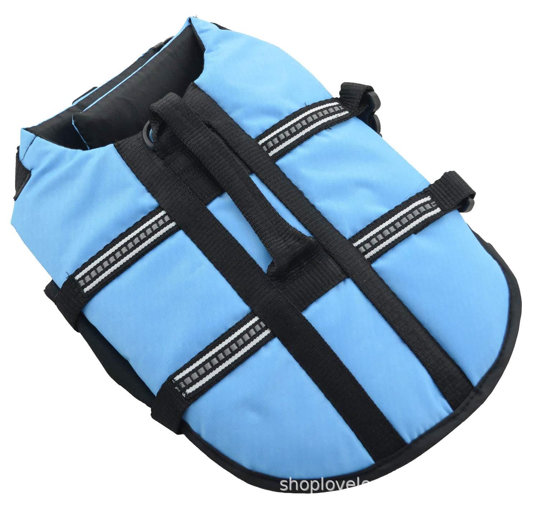 LXL Sky blueePet Apparel, Dog Lifejacket, Floating Swimming Pool, bluee and orange in Summer,orange,S
