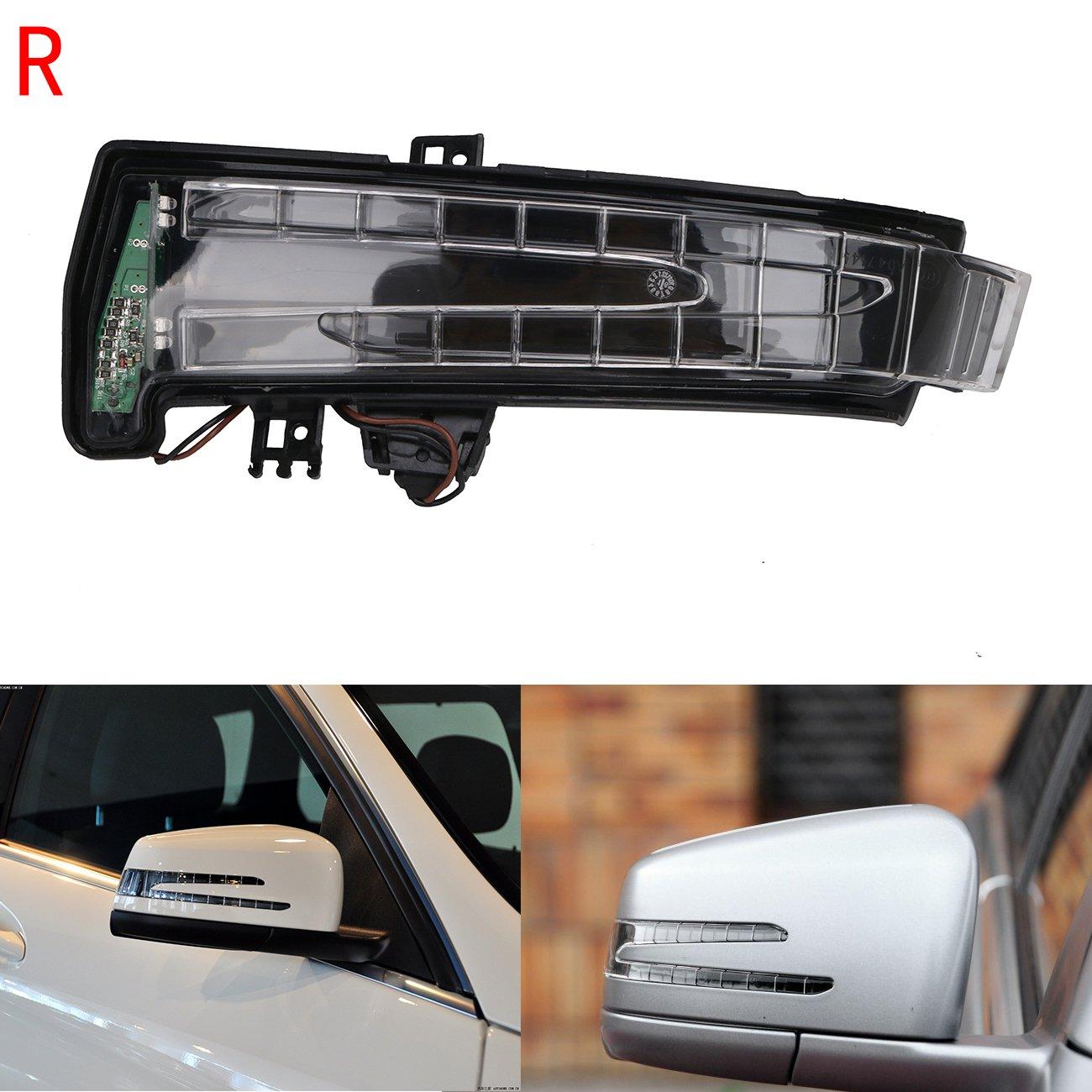 For Mercedes-Benz W204 W212 C300 S350 E550 2007-2013 Door Mirror Glass Left Side