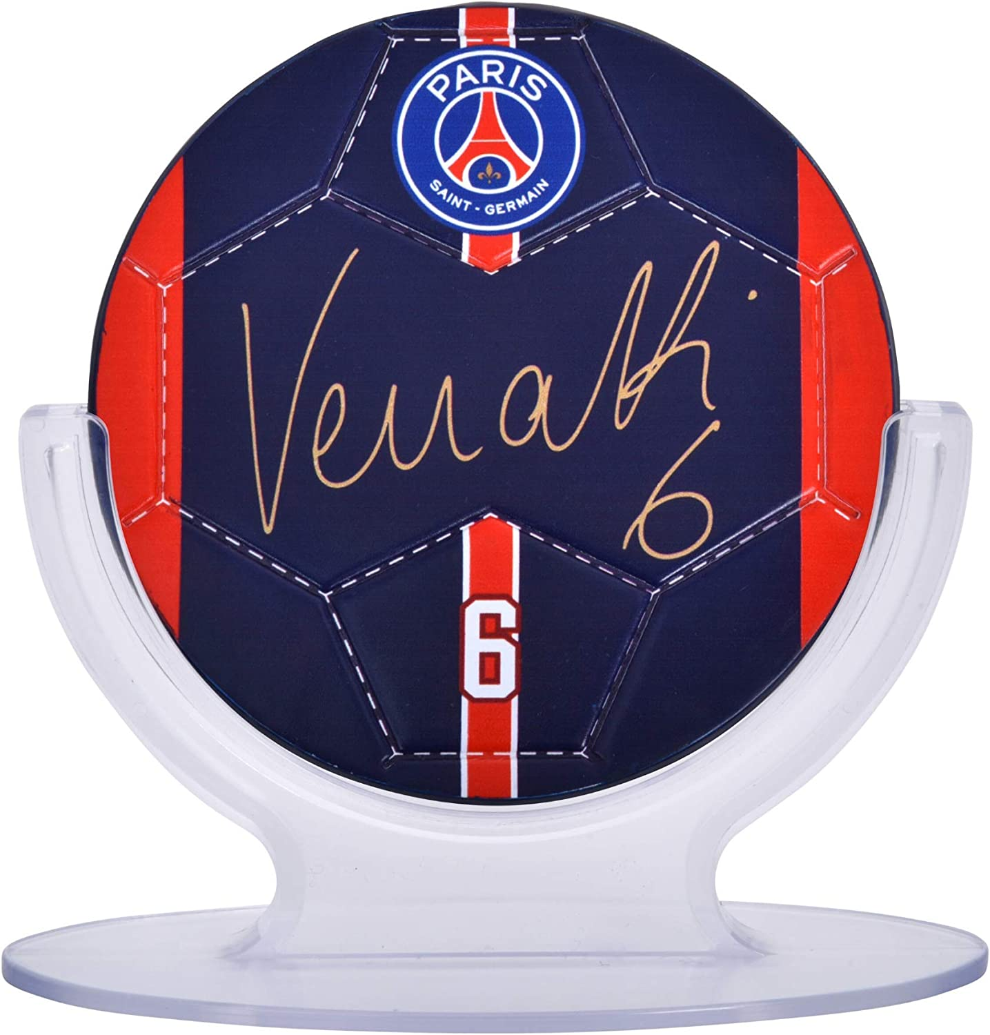 Facsimile Signed PARIS SAINT GERMAIN PSG: Signables Signature Series Official Collectors Item Soccer Signable with Player Info
