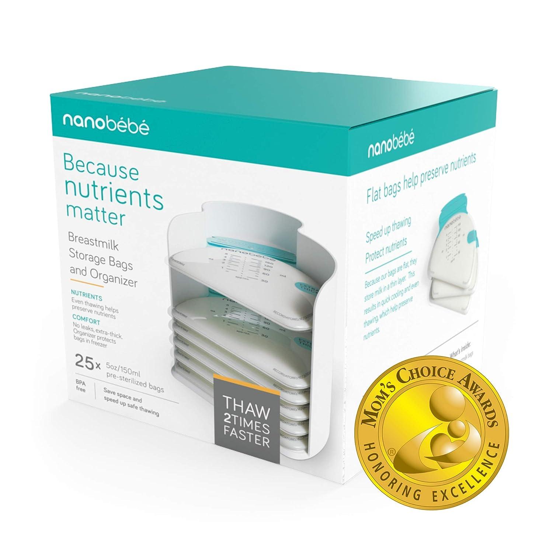 Amazon.com: Nanobebe - 25 bolsas de almacenamiento y ...