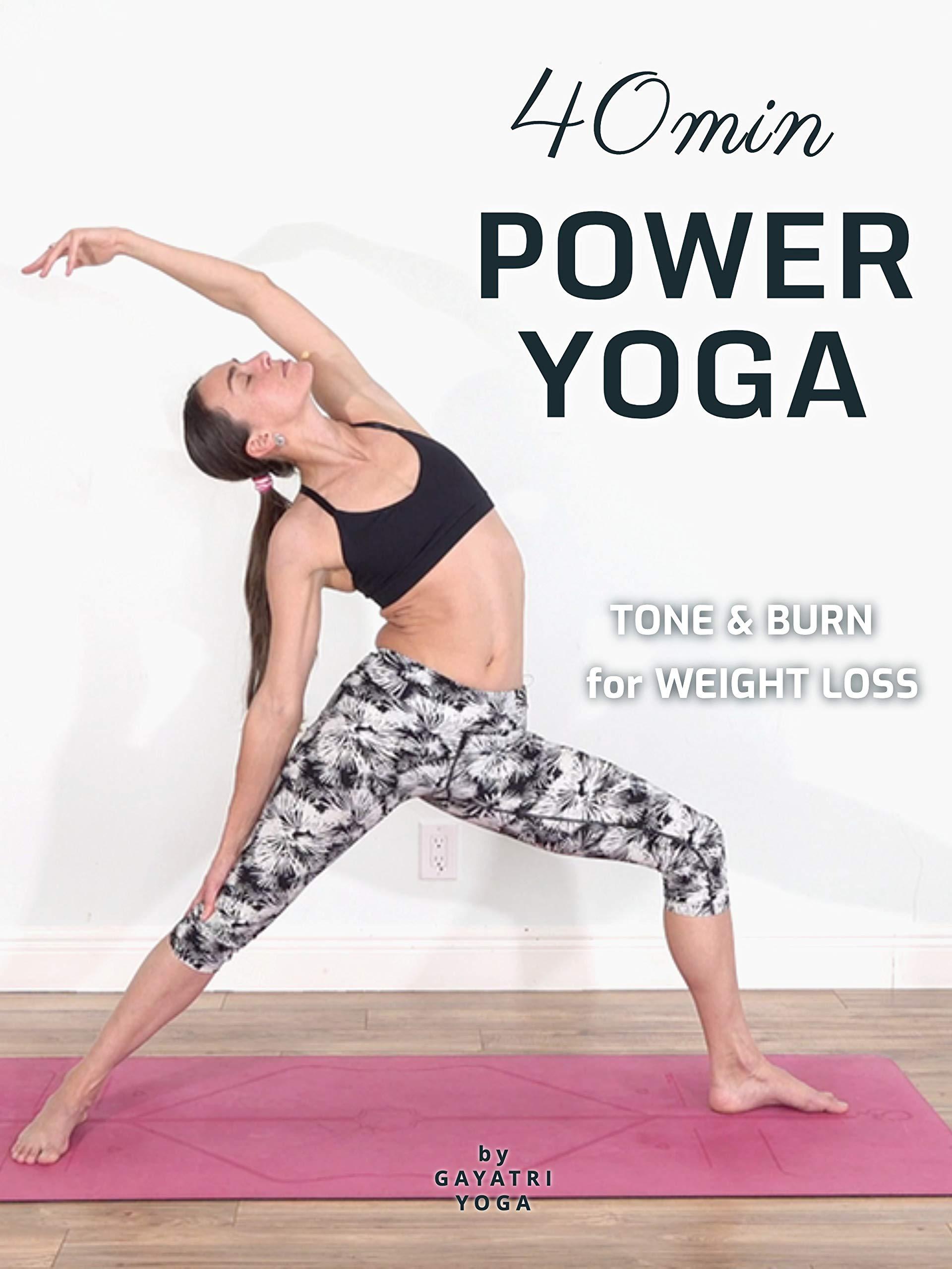 40 Min Power Yoga - Tone & Burn for Weight Loss | Gayatri Yoga