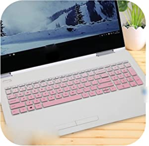 Laptop Keyboard Cover Protector for Hp Envy X360 15-Cn0006Tx Cn0007Tx 15-Cn0008Tx Cn0007Na Cn0009X 15-Cn Series Cn1000Ne 15.6''-Fadepink-