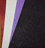 Chiisen Pack Of 10 A4 Size Eva Foam Glitter Sheets - For Crafts, Home. Office, Party Decorations