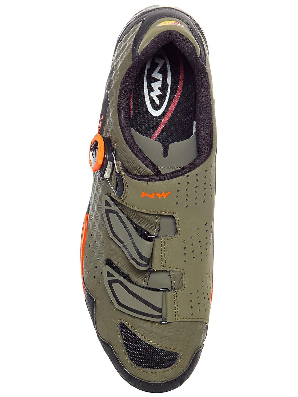 Northwave Outcross Plus Schuhe MTB Trekking Fahrrad Schuhe Plus grün Orange 2018 28c721
