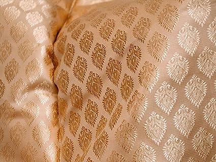 003c930582 Amazon.com: Champagne Jacquard Fabric for Vest Jacket Silk Fabric ...