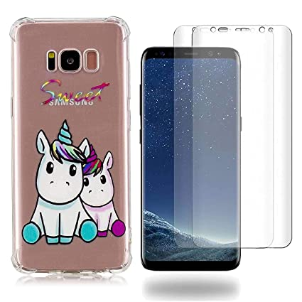 Samsung Galaxy S8 Plus Funda un par de unicornios Soft ...