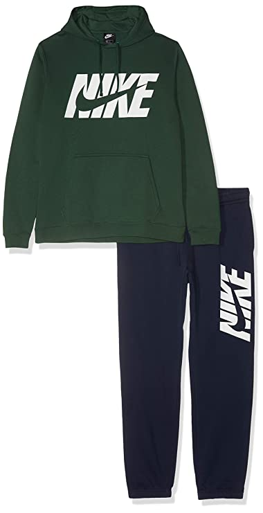 Nike M NSW CE FLC Gx Chándal, Hombre, Charcoal Heathr, XL: Amazon ...