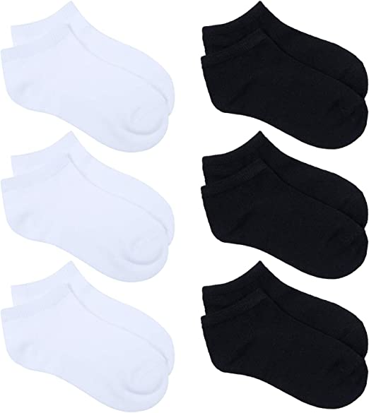 URATOT 24 Pairs Kids Low Cut Socks Boys or Girls Half Cushion Socks Athletic Ankle Socks