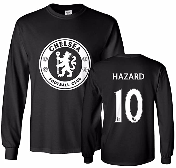 best loved 6a269 5d155 Tcamp Chelsea Shirt Eden Hazard #10 Jersey Men's Long Sleeve T-Shirt