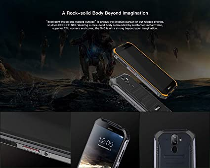 【2019】DOOGEE S40 4G Android 9.0 Sólido Móvil Libre Robusto - 5.5 HD (Gorilla Glass 4) IP68/IP69K Militar Resistente IP68 Impermeable ...