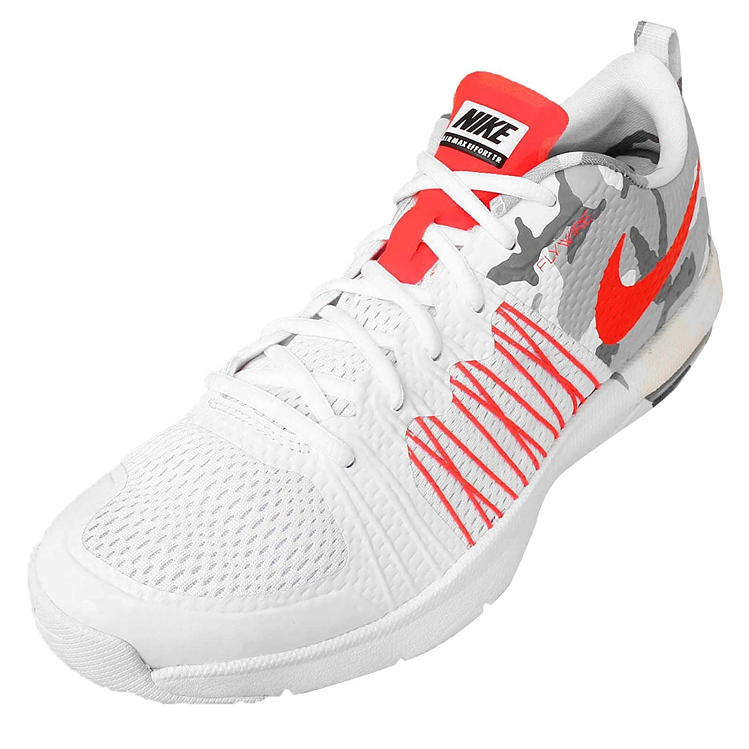 check out 41670 a4978 Amazon.com Nike Men s Air Max Effort TR AMP, WHITE BRIGHT CRIMSON- ...