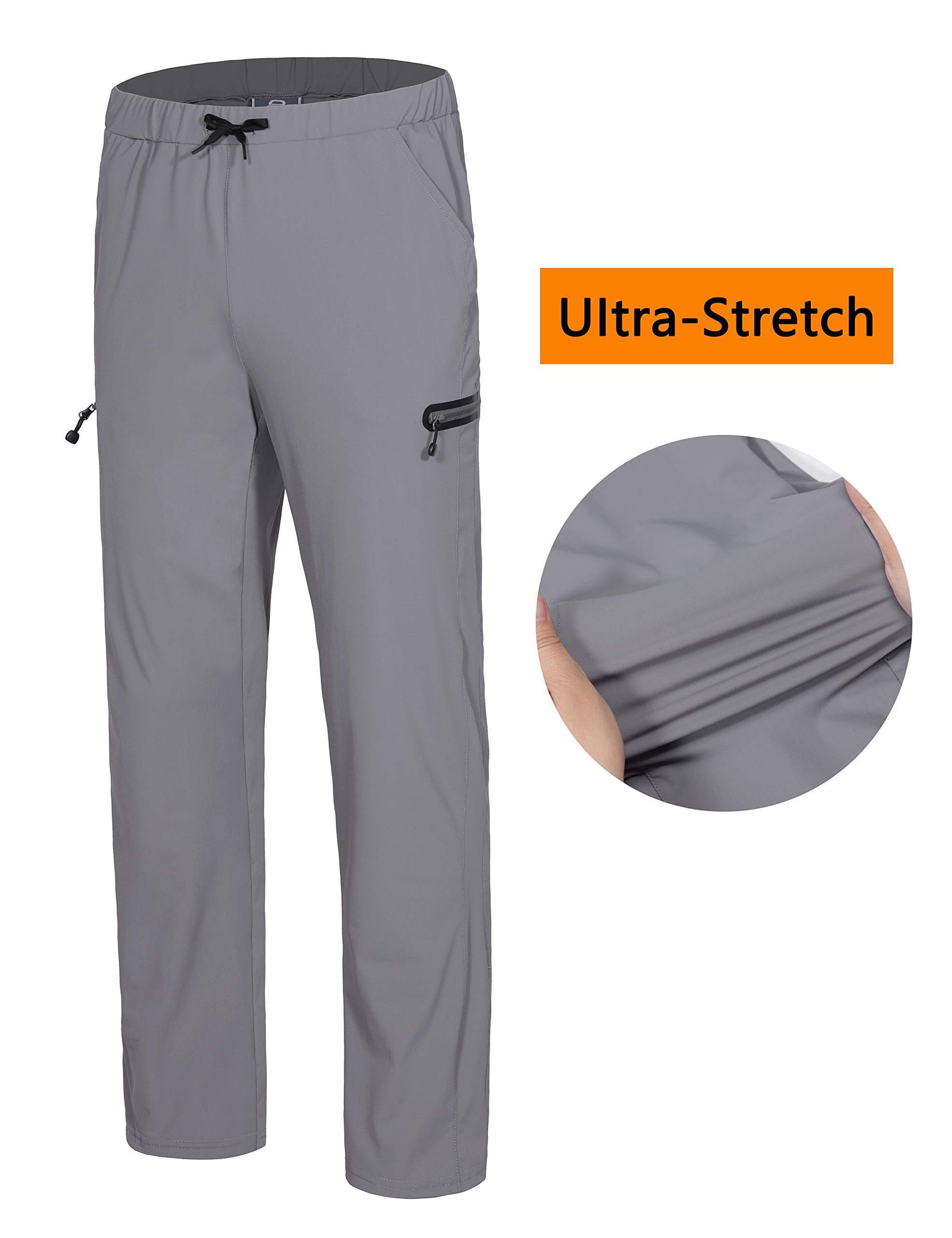Little Donkey Andy Womens Ultra-Stretch Quick Dry Lightweight Ankle Pants Drawstring Active Travel Hiking