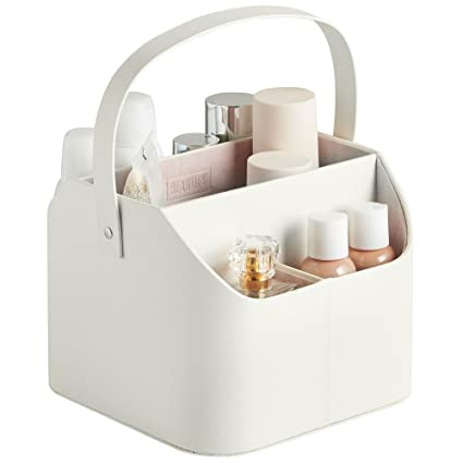 Beautify Faux Leather Makeup Storage Organiser Caddy With Carry