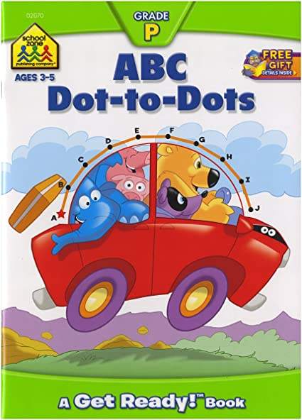 Amazon.com: Preschool Workbooks 32 Pages-ABC Dot-to-Dot: Arts, Crafts &  Sewing