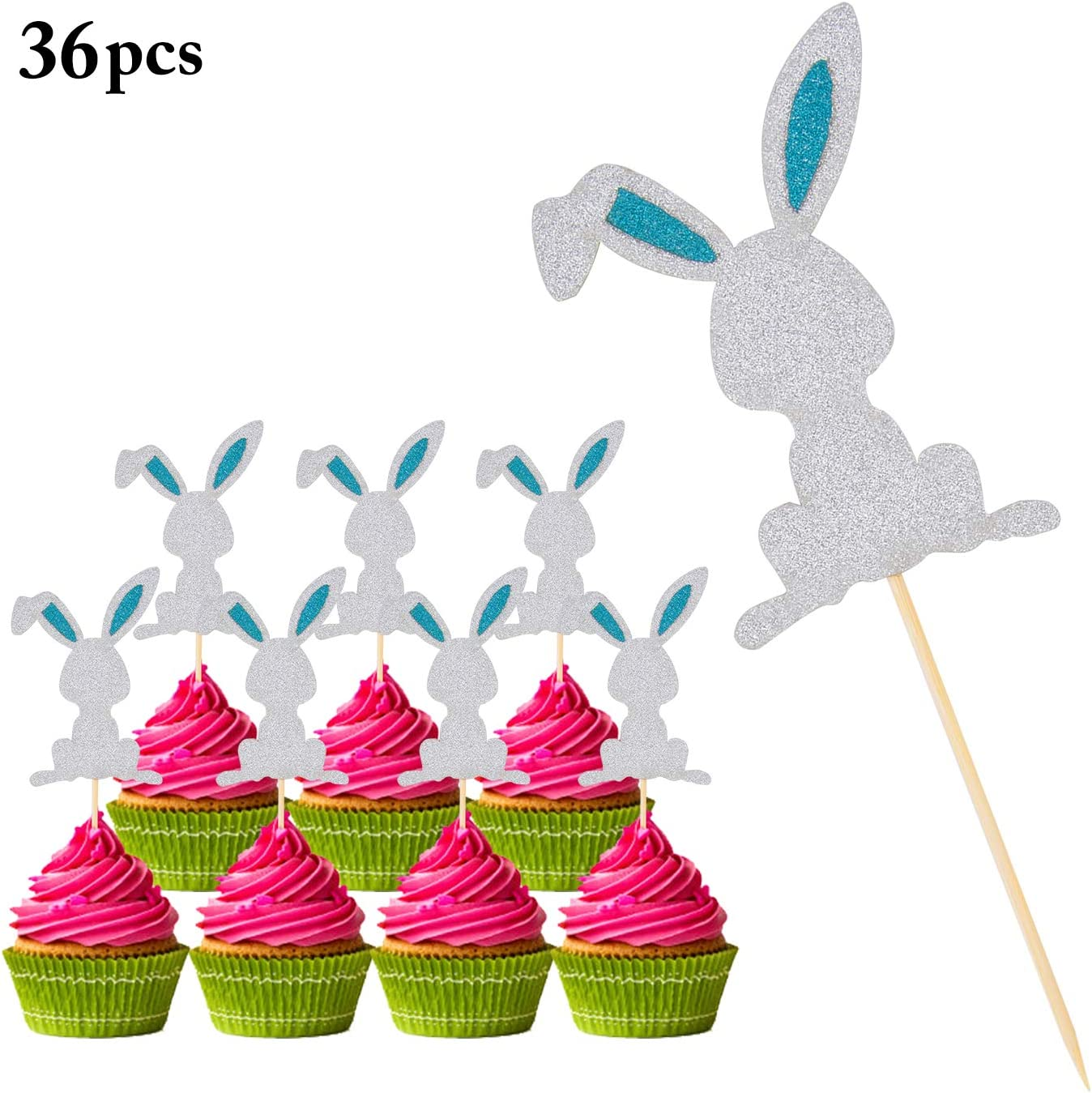 24pcs Paper Sweet Love Flower Cupcake Food Pick Topper Party Decoration