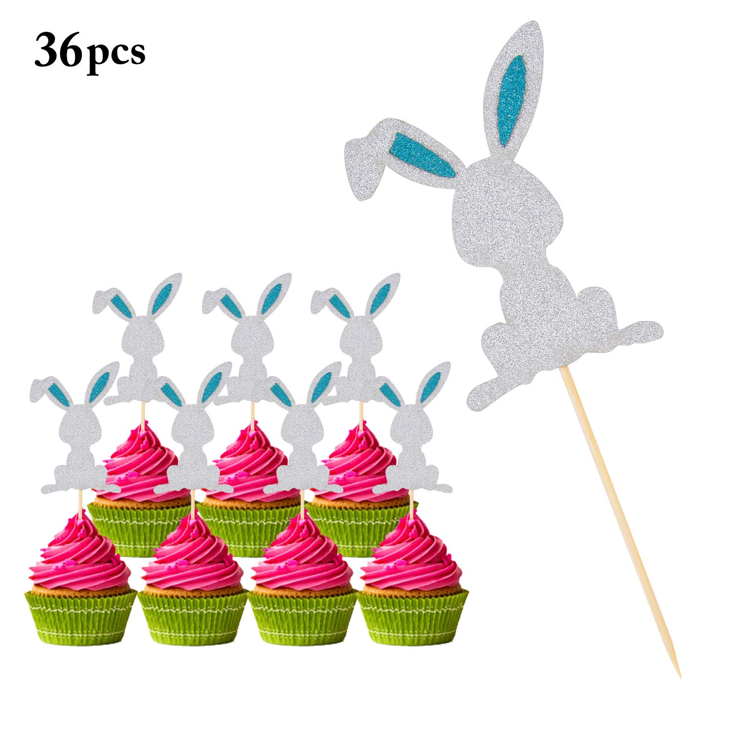 Number One Cupcake Topper X 6 Or 12 1st Birthday Cake Picks 29 Glitter Colours Kitchen, Dining & Bar Cake Toppers