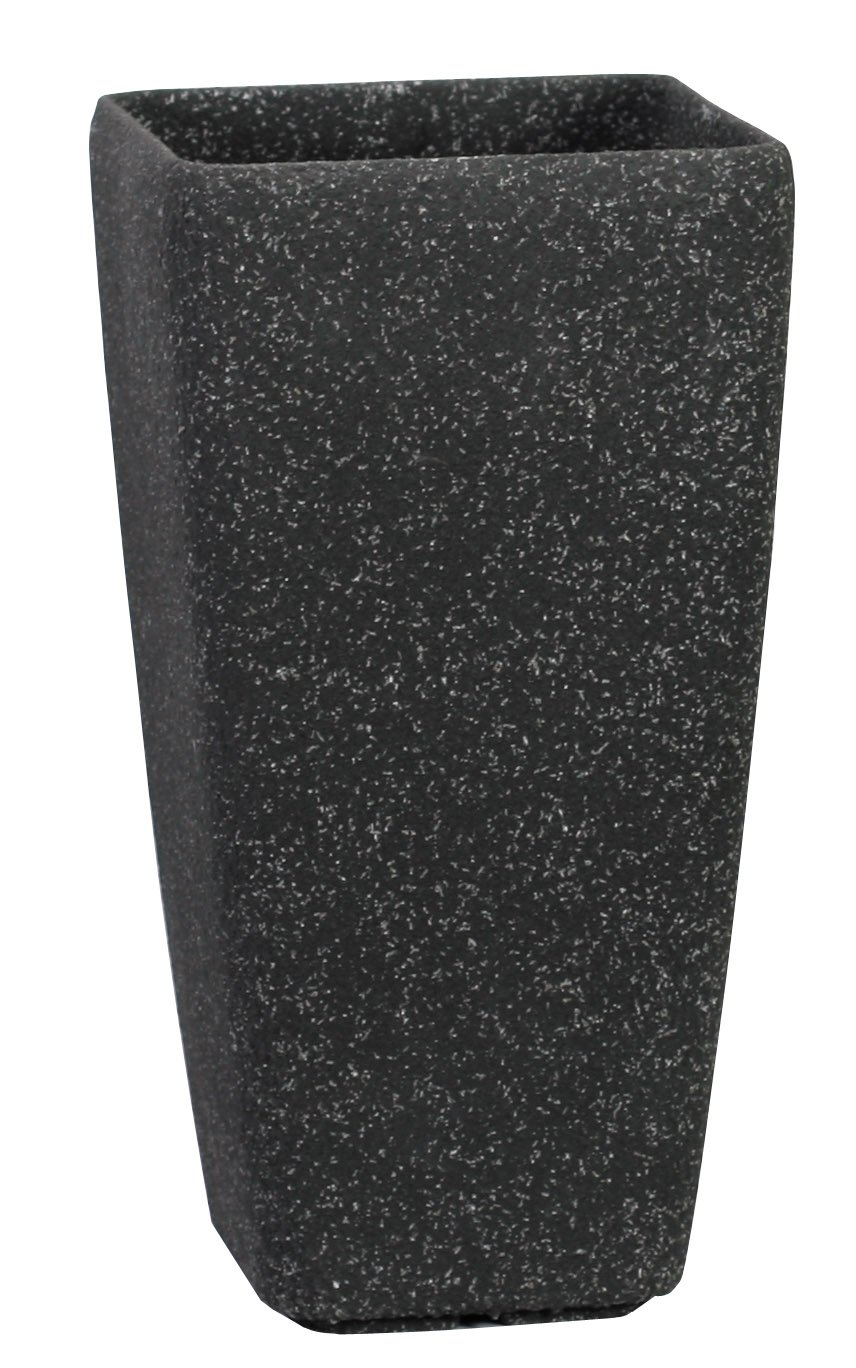 Stone Light SG Series 9 in. (dia) x 17 in. (height). Cast Stone Round Planter, Aged Black Sandstone, Pack of 4 pcs by Stone Light