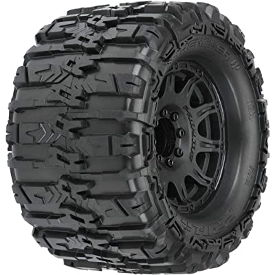 "Pro-line Racing Trencher HP 3.8"" Belted MT Tires, Raid Black Mounted 8x32 17mm Hex (2), PRO1015510: Toys & Games"