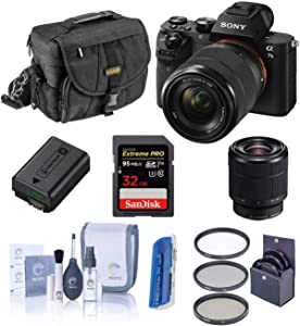 Sony Alpha a7II Digital Camera with FE 28-70mm f/3.5-5.6 OSS Lens - Bundle with Camera Case, 32GB Class 10 SDHC Card, Filter Kit (UV/CPL/ND2), Clean Kit, SD Card Reader, Card Wallet