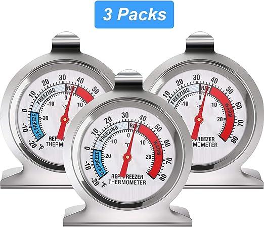 Termómetro para Refrigerador y Congelador Termómetro de Línea ...