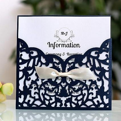 Yodaliy 10 Tarjetas De Invitación Para Boda Elegantes Kits