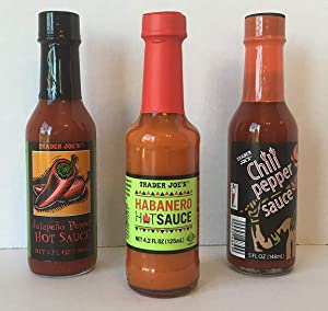 Trader Joe's Jalapeno Pepper Hot Sauce, Trader Joe's Habanero Hot Sauce & Trader Joe's Chili Pepper Sauce. A Triple Spicy Bundle Plus a BONUS FREE Awesome Spicy Fries Sauce recipes from Zee Organics (3 Items + Bonus)(3 Items)