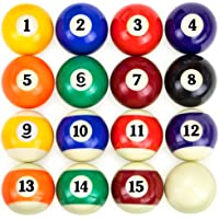 Full Set of 16 Pool Table Billiard Ball Set by Felson Billiard Supplies