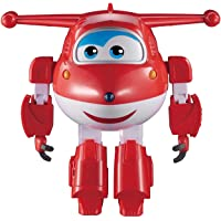 "Super Wings – Robot Ready Jett | Lights and Sounds | Interactive | Motion Activated | 15+ Phrases | 10"" Tall"