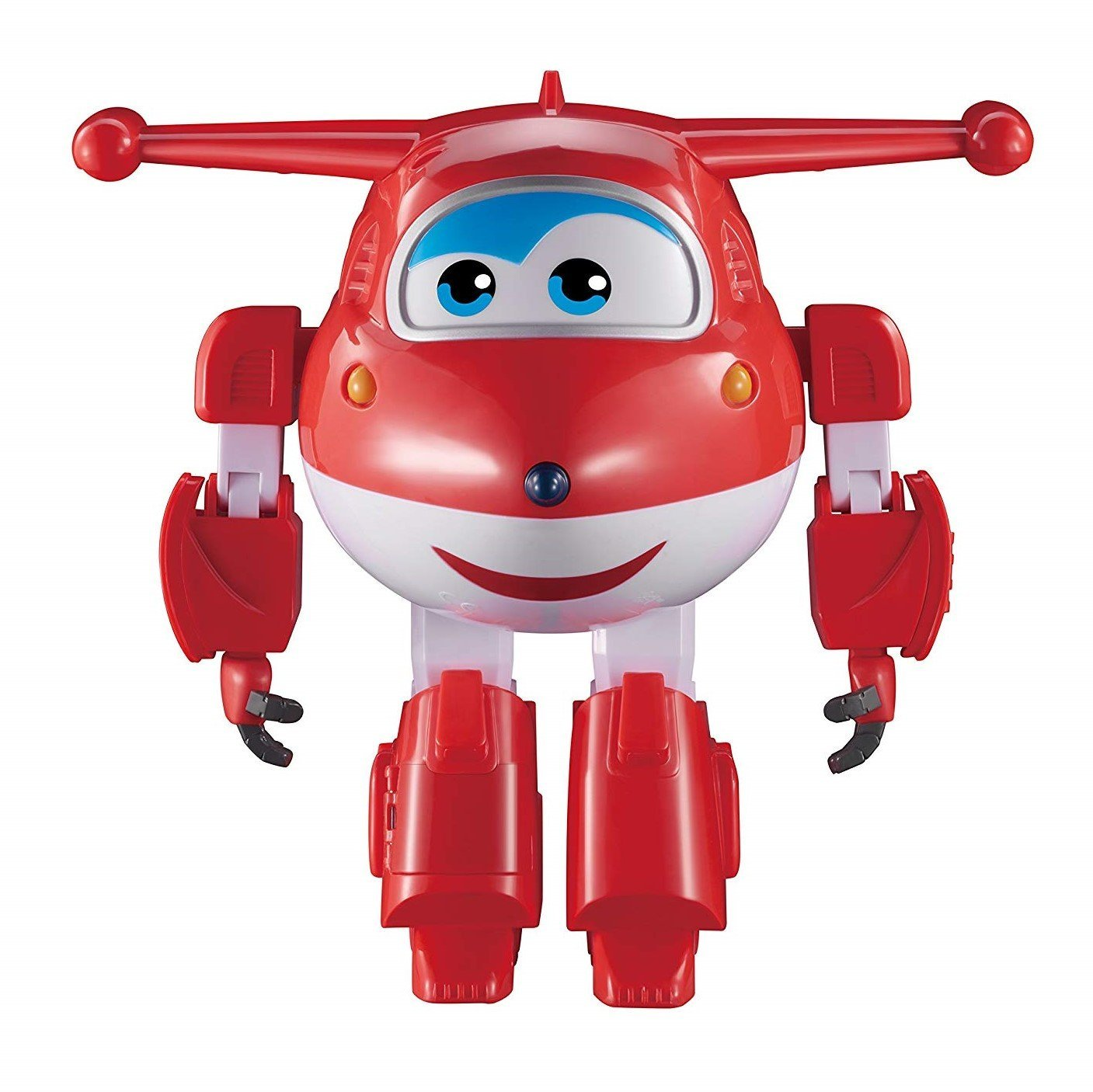 "Super Wings – Robot Ready Jett | Lights and Sounds | Interactive | Motion Activated | 15+ Phrases | 10"" Tall Auldey US720410A"