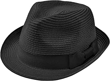 Faletony Straw Fedora Hat Classic Panama Hat Beach Sun Hats for Women Men