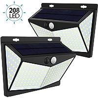 JIM'S STORE Lámpara Solar 2 Pack Luz Solar