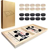 Funny Portable Wooden Fast Sling Puck Slingpuck Board Game Parent-Child Interactive Toys for Adult Child Party