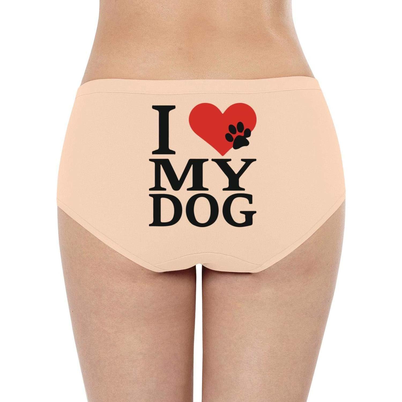 ZYLIN Women Hipster Panties Briefs I Love My Dog Popular Seamless Bikini Underwear