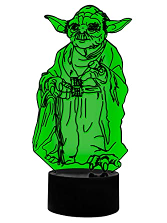 3d lámpara LED Jedi Yoda
