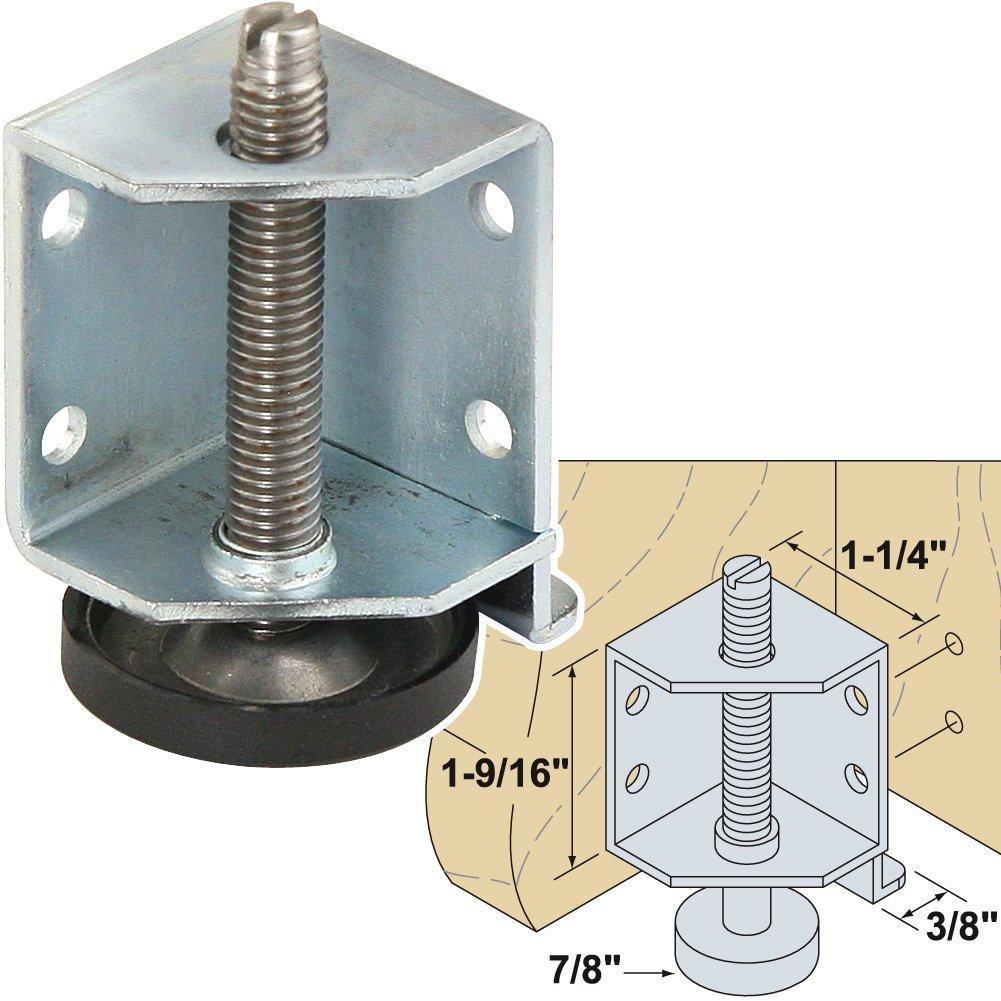 Platte River 943713, 4-pack, Hardware, Casters And Glides, Adjustable Glides, Adjustable Corner Leveler