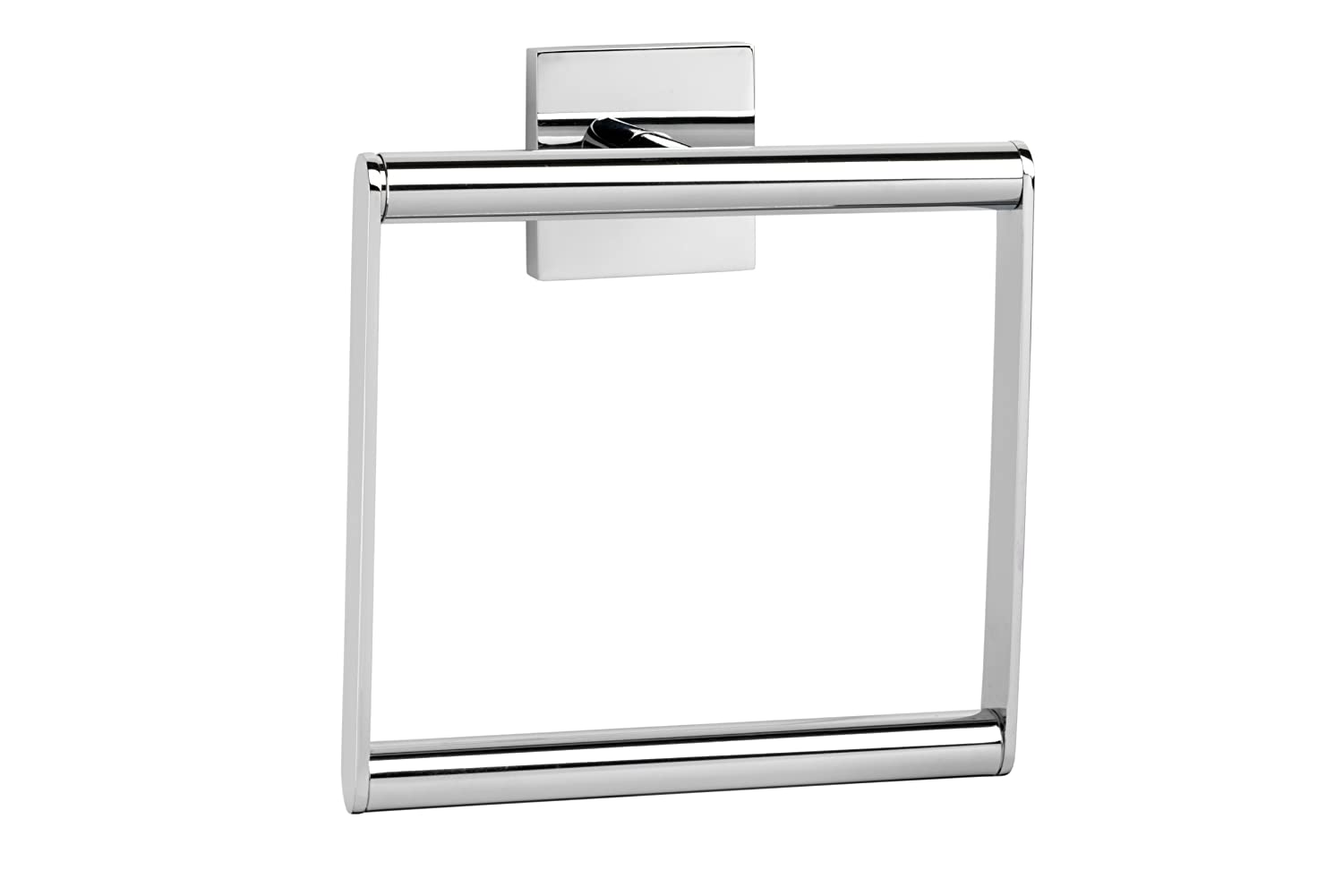 Croydex Chester Glass Corner Shelf, Silver, 54 x 220 x 220 mm QM445941