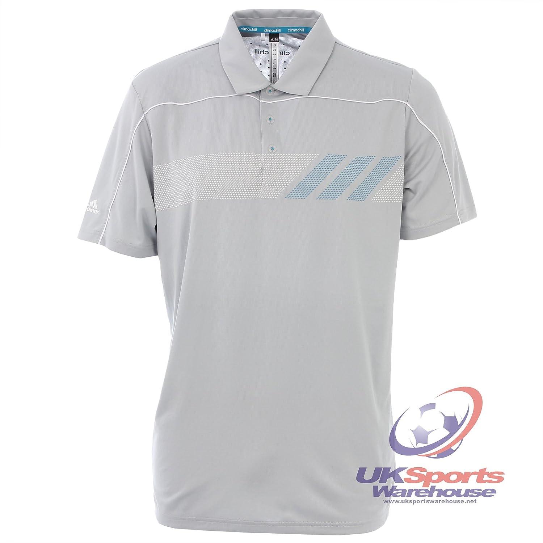 Adidas donna Climachill tennis polo–grigio–da £35, S