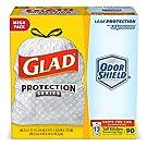 Glad Tall Kitchen Protection Series Drawstring Trash Bags - 13 Gallon White Trash Bag - 90 Count