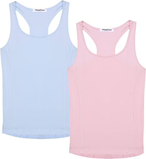 Hawiton Camiseta de Tirantes de Algodón para Mujer, Pack de 2: Amazon.es: Deportes y aire libre