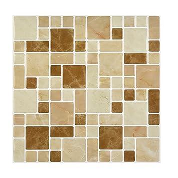 fenleo wall stickerspet 3d diy wall decor embossed brick stone tiles anti mold