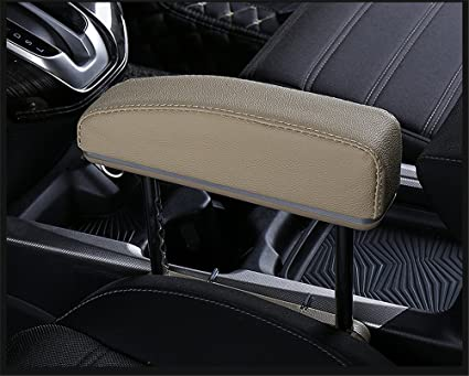 GFYWZ Car Armrest Rest Pads,Vehicle Truck Universal Central Elbow Support  Pad Long-Term Drivers Arm Comfort Pad,Beige